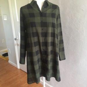 BB Dakota | Green and Black Plaid Dress
